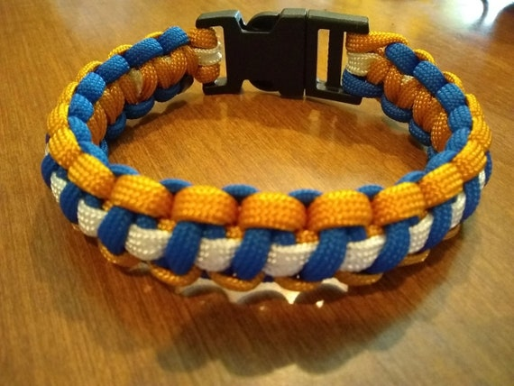 Navy Veterans Bracelet, Paracord, Hand Crafted, Military, Veterans Gift, Made in USA