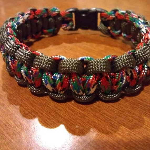 Afghanistan Veteran Bracelet, Paracord, Hand Crafted, Military, Veterans Gift, Made in USA