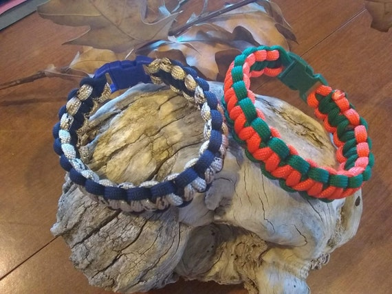 Orange or Speckled Blue Bracelets, Paracord Bracelets, Survival Gifts, Paracord Gifts, Holiday Gifts