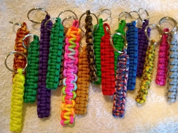 Solid Colored Key Chains, Hand Crafted Key Chains, Lanyards, Key Rings, Various Sizes