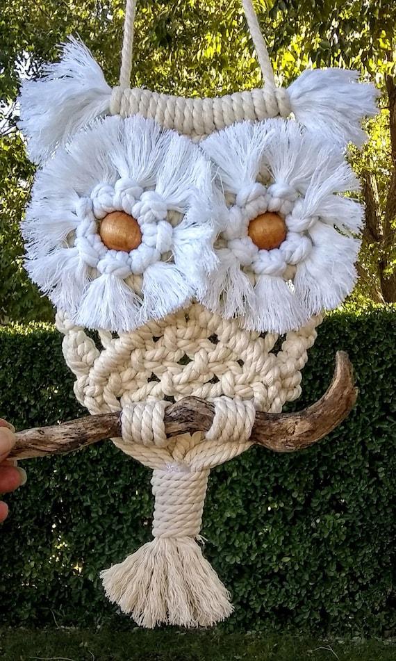 Hand Crafted Owl Home Decor, Owl Wall Hanging, Owl Decor, Home Decor, Macrame Owl