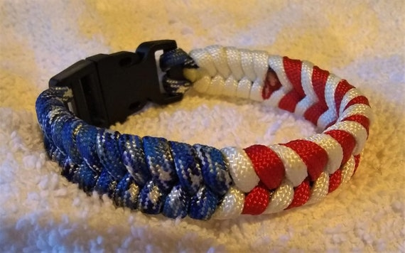 Red, White & Blue Fishtail, Support USA, Freedom Jewelry, USA Gifts