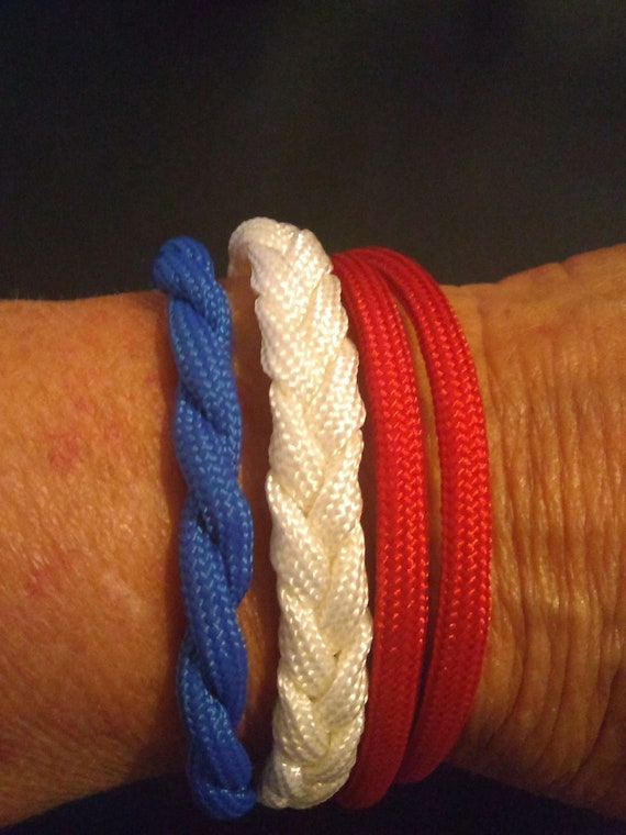 Stack-able U.S.A. Bracelets, Support USA, Freedom Jewelry, USA Gifts