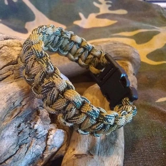 OCP Camo Bracelet, Hunters, Paracord, Hand Crafted, Military, Veterans, Deployment, Gift