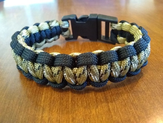 Desert Camo Black Outline, Hunter Jewelry, Hiker Jewelry, Paracord Bracelets, Outdoor Wear