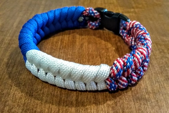 All American Paracord Fishtail Bracelet, Patriotic Gifts, Independence Gifts, Support USA, Freedom Jewelry, USA Gifts