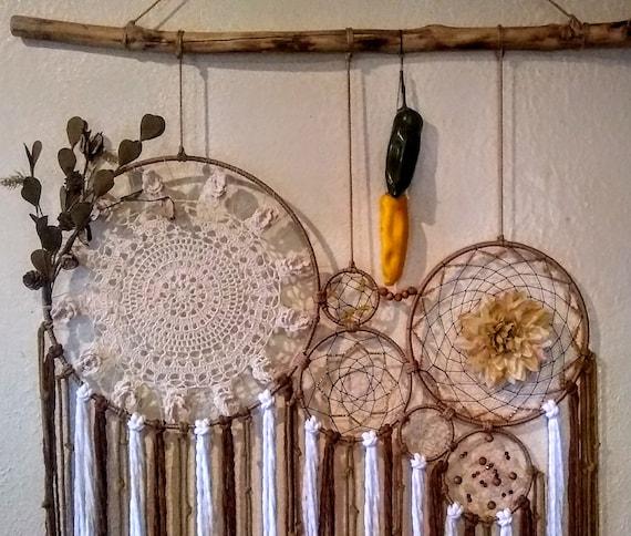 Autumn Wall Decor, Fall Dream Catcher, Large Macrame Decor, Home & Living Decor, Quinceañera, Wedding, Photo Backdrop, Hippie Decor