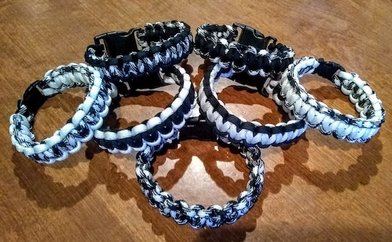 Harmony Collection, Black and White Bracelet, Black and White Jewelry, Paracord, Harmony Bracelets, Survival Products