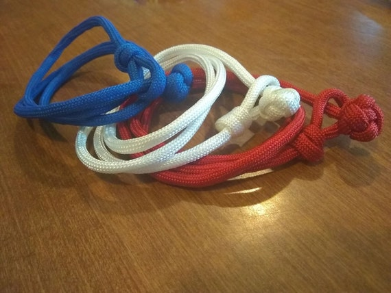 3 Wrap Stack-able Bracelets RWB, Support USA, Freedom Jewelry, Gifts