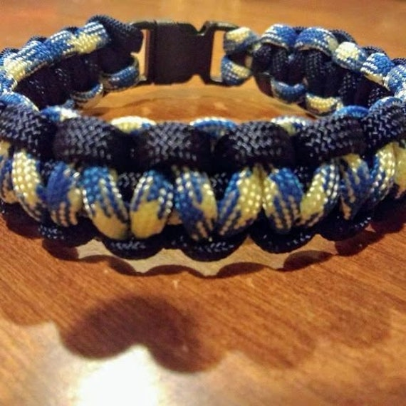 Air Force Paracord Bracelet, Paracord, Hand Crafted, Military, Veterans Gift, Made in USA