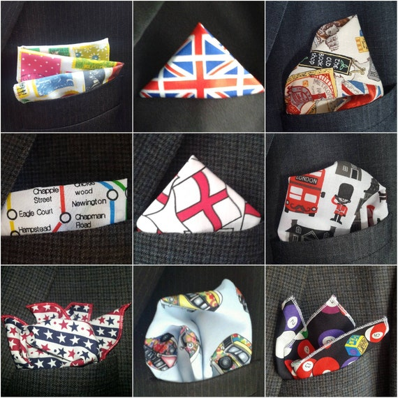 Mens Handkerchief Union Jack Pocket Square Great Britain Hanky