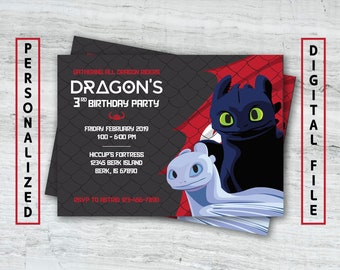 Dragon Invitation Etsy