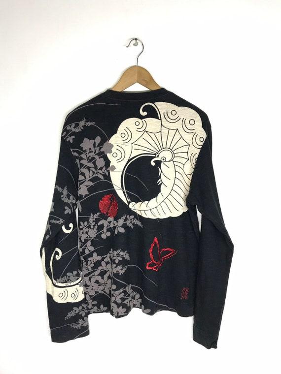 Copripiumino Harley Davidson.Kura Kuri Tamashi Embroidered Longsleeve T Shirt Japan Etsy