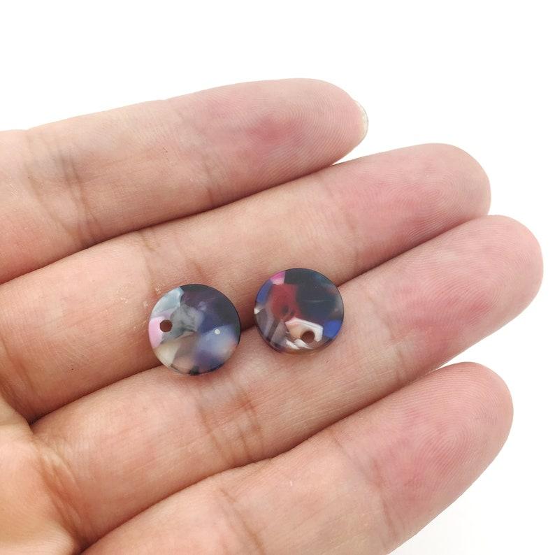 acrylic earring findings Acetate Acrylic Earring Charms Tortoise Shell Earrings Stud acetate earring Post