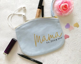 Cosmetic bag mom - gift birth - pregnancy gift - gift girlfriend - pencil case personalized - cosmetic pouch with name