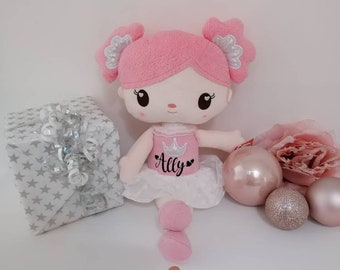 Gift baptism birth birthday girl - ballerina doll - personalized with name - first doll