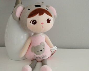 Personalizable koala doll / cuddly toy with name / Kidsinterior / Nursery decoration / Doll with name