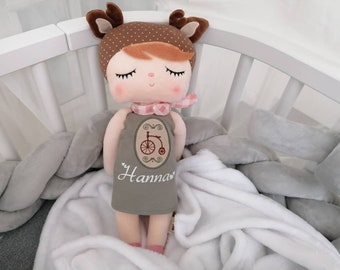 Metoo Doll Gift Baptism Birth Birthday Girl - Deer Doll metoo - Personalized by Name - First Doll - Doll by Name