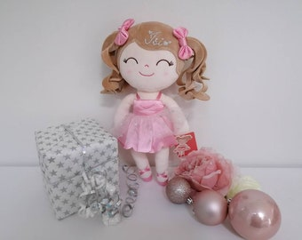 Gloveleya Doll Gift Christmas Girls Birthday Gift Girl - Doll Curly Personalized with Name First Doll