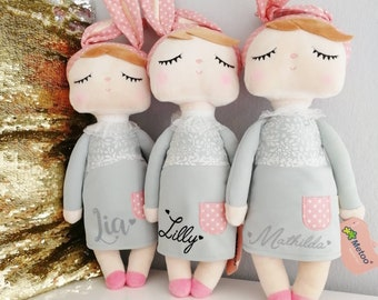 Metoo Rabbit Doll Gift Baptism Birth Birthday Girl - personalized by name - first doll - doll by name