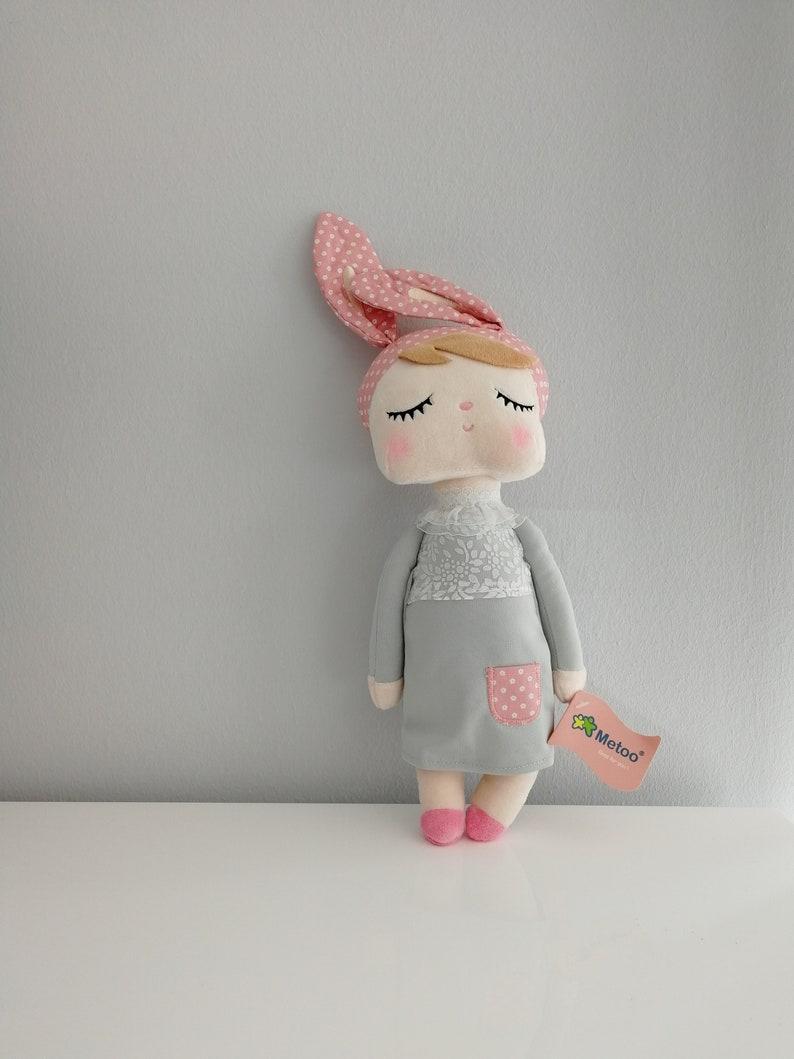 Gift baptism birth birthday girl  bunny doll metoo  image 0
