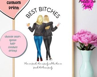 Best Bitches , Birthday Gift for Best Friend ,Funny Best Friend , Gift for Women, Best Bitch , friendship gift , happy birthday friend-NEW