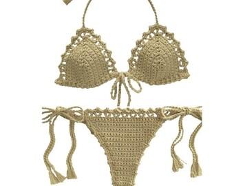 304f23c68041 Crochet swimwear   Etsy