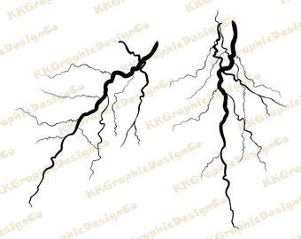 Lightning Bolt Svg Etsy