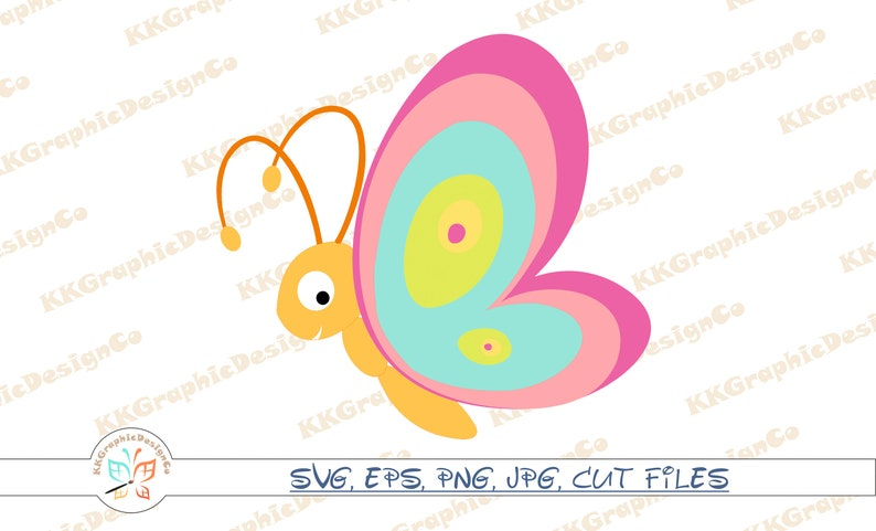 Butterfly cartoon Svg file Butterfly cricut Cute butterfly svg Svg file  Cricut svg Baby svg Baby clip art Baby clipart Svg file for cricut