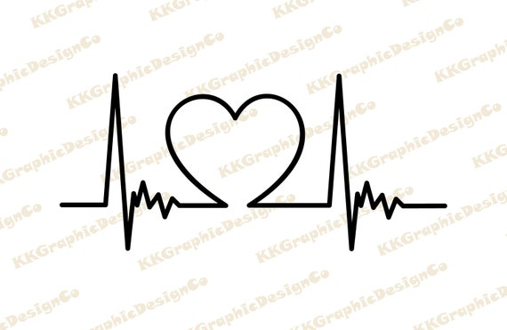 Heart Beat Svg Ekg Svg Heartbeat Svg Heartbeat Clipart Etsy