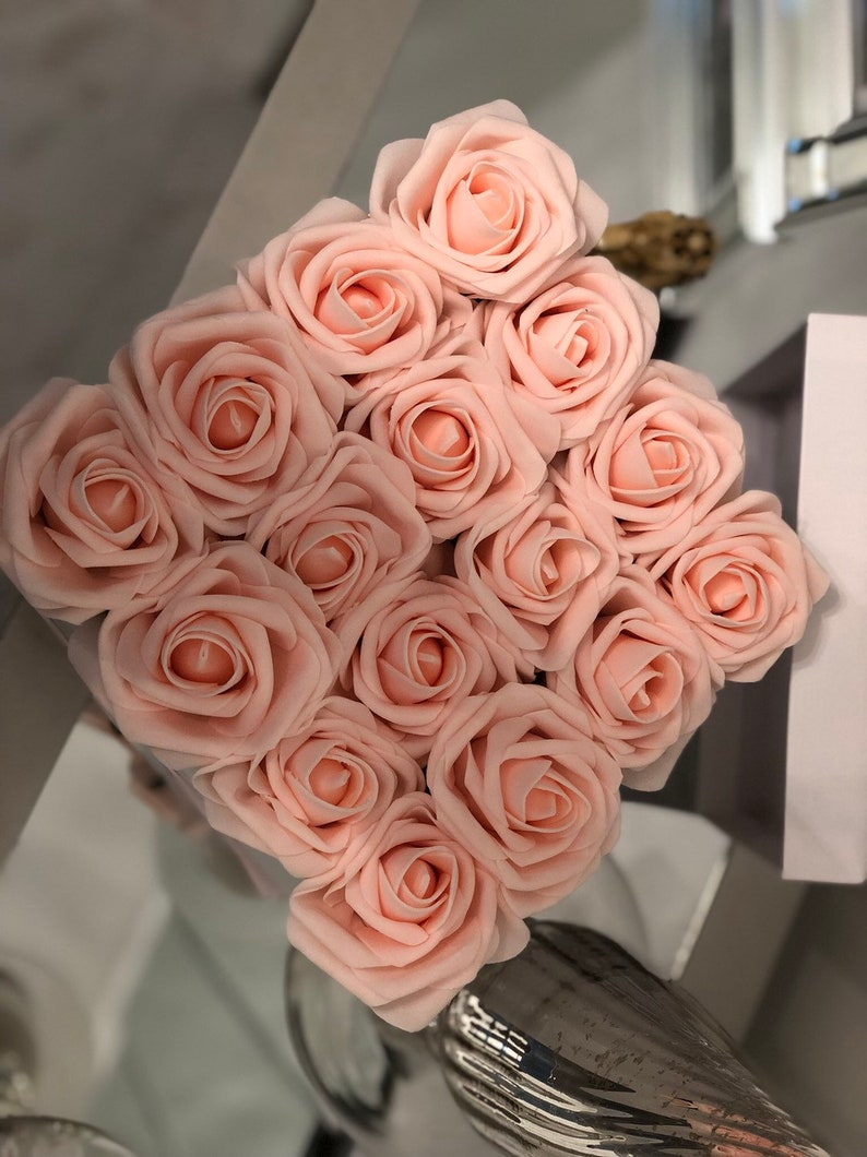 Roses in Box |Wedding Forever Rose Gift Box Artificial Flowers Bridesmaids Bridal Miss to Mrs Flower Box Flower Centerpiece