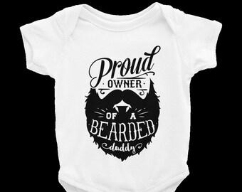 ff3ae2fd3414 Proud Owner Of A Beard Baby onesie