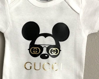 6ba3181c Gucci Inspired Funny Onesie, Onesie, Unique Baby Gift, Unisex Baby Gift,  Funny Baby Clothes, Funny Baby Shower, Fr