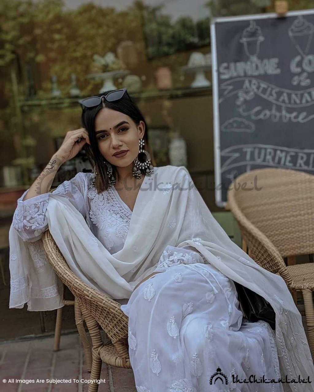 Lucknawi Chikankari Handmade Women Indian Cotton Kurti Designer Kurti pack of 2