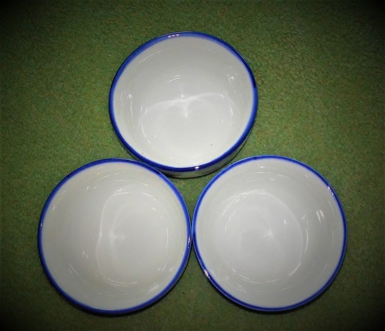 Antique Nippon Marked Rice Grain Porcelain Bowls