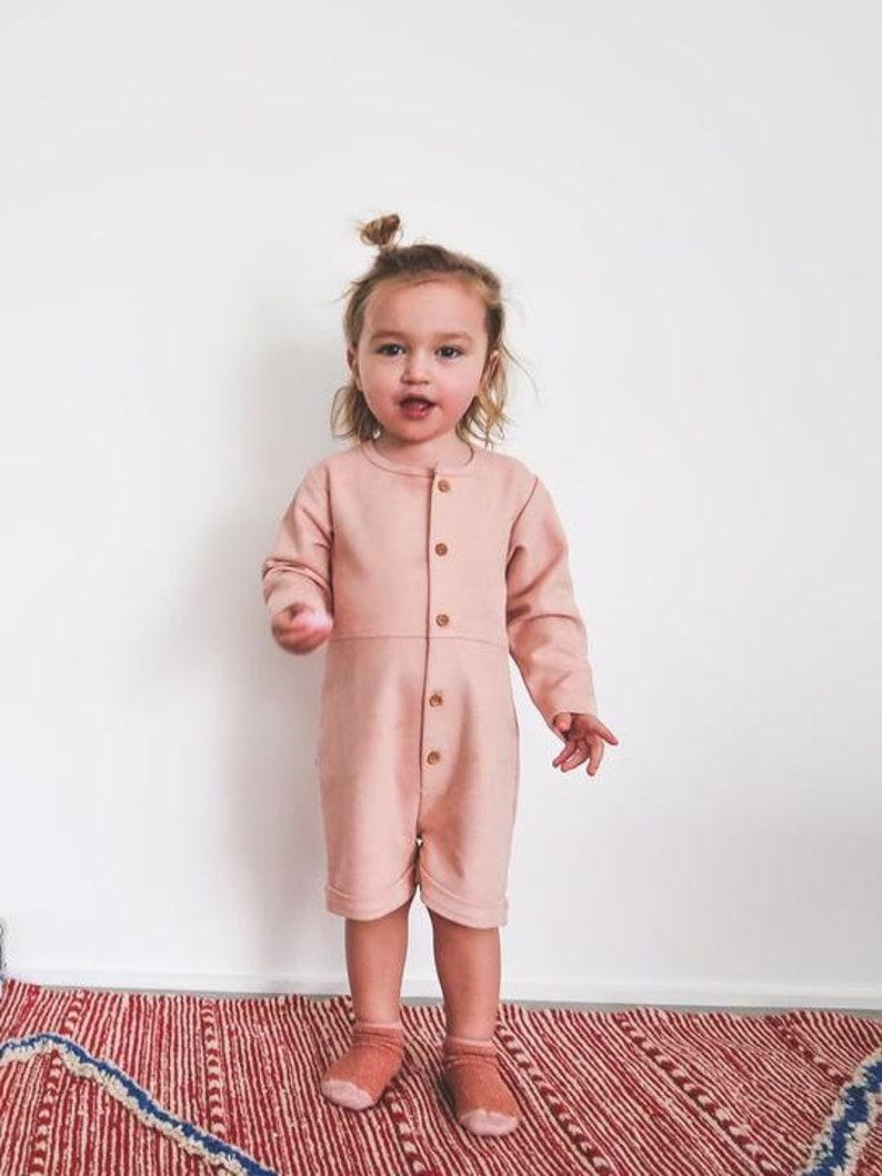 Children Clothes Little Girl Rose Bloom Buttons Onesie