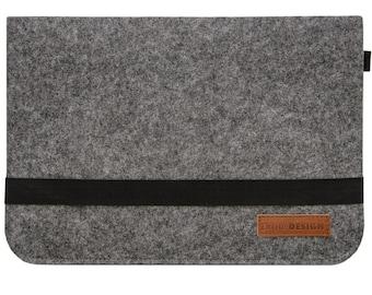 402b5d17cbf07 13.3 Filz Laptop-Tasche 35x24 cm Tablet Hülle MacBook Pro Air iPad Surface  Grau