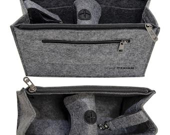 24c7bcc838d8e Handtaschen Organizer 23x10x16 cm Filz Tasche Innentasche Taschen Einsatz S  Grau