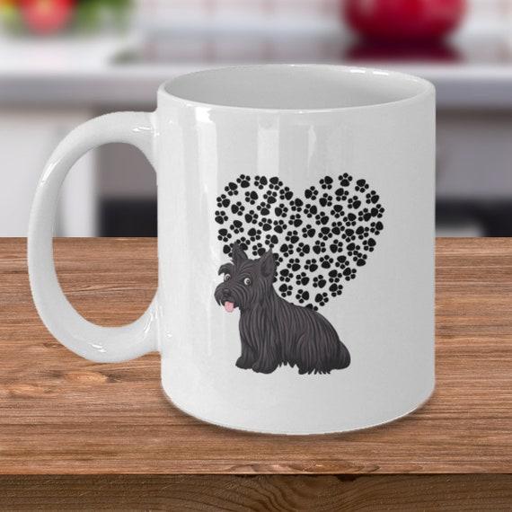 Cute Scottie Mug Gift Idea For Scottish Terrier Lovers Paw Etsy