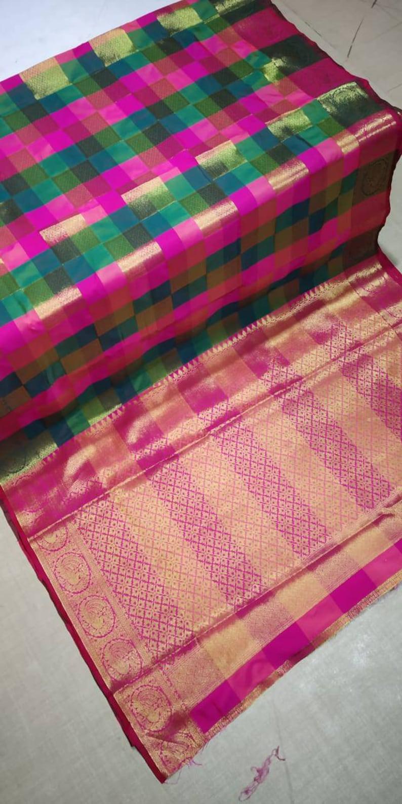f2f27eb01fa6b Banarasi Handloom Weaving Silk Saree With Rich Zari Woven