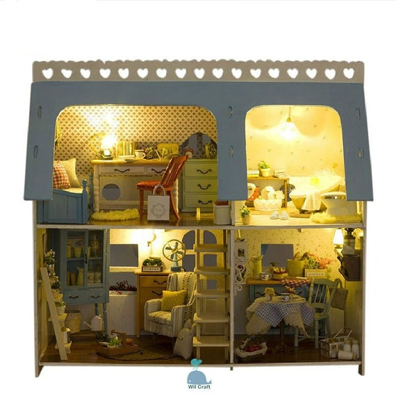 DIY Handcrafted Miniature Project Wooden Dolls House Coast Villa 1//24 Scale