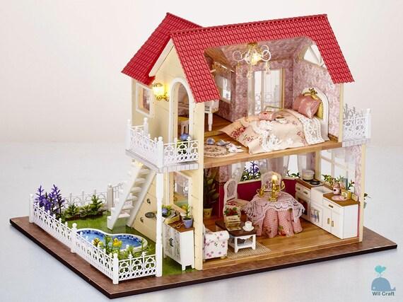 Bricolaje Artesanía Miniatura Proyectos Madera Casa de Muñecas mi Elegantes Poco