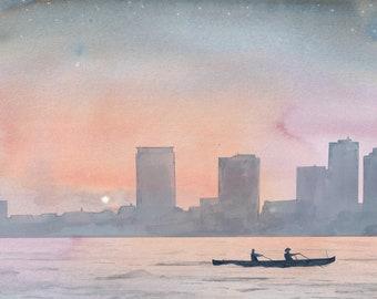 Milwaukee Boats ( A3 giclée print )