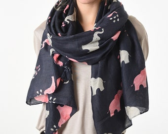 bec74a4588b91 Elephant Scarf   White Elephant Gifts   Animal Print   Birthday Gifts for  Her   21st Birthday Gift   Scarf for Women   Wanderlust   Safari