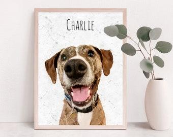 Custom Pet Portrait, Pet Portrait, Custom Dog Portrait, Pet Illustration, Pet Art Print, Dog Lover Gift, Pet Loss Gift, Pet bereavement