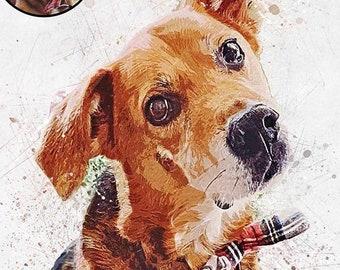50620691dd629 Custom pet portrait painting Pet painting Custom Digital Dog Portrait  Custom Dog Painting Watercolor Pet Portrait Custom Portrait Watercolor