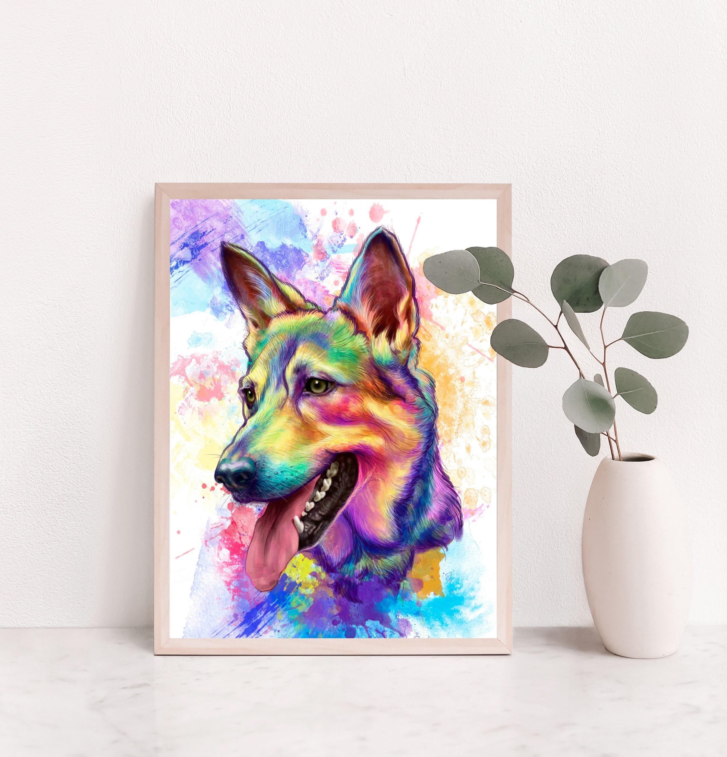 Custom Watercolor Pet Portrait, Rainbow Portrait, Pet Portrait, Custom Pet  Portrait, Dog Watercolour, Cat Watercolour, Pet Loss Gift