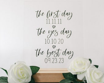 """Personalized Clear Acrylic 8x10"""" Wedding Sign 