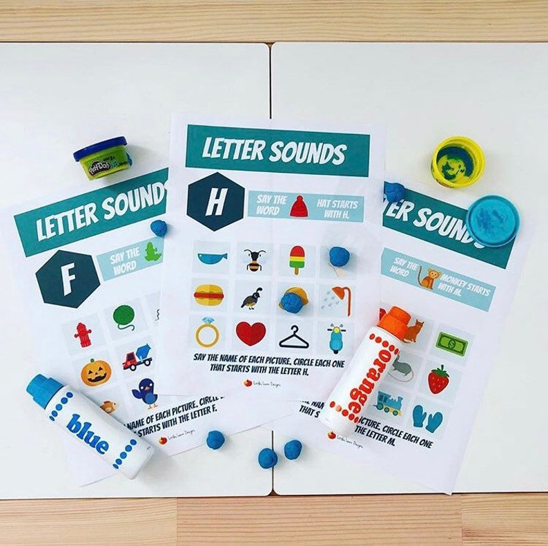 Play And Learn Kit Phonics Printables Etsy