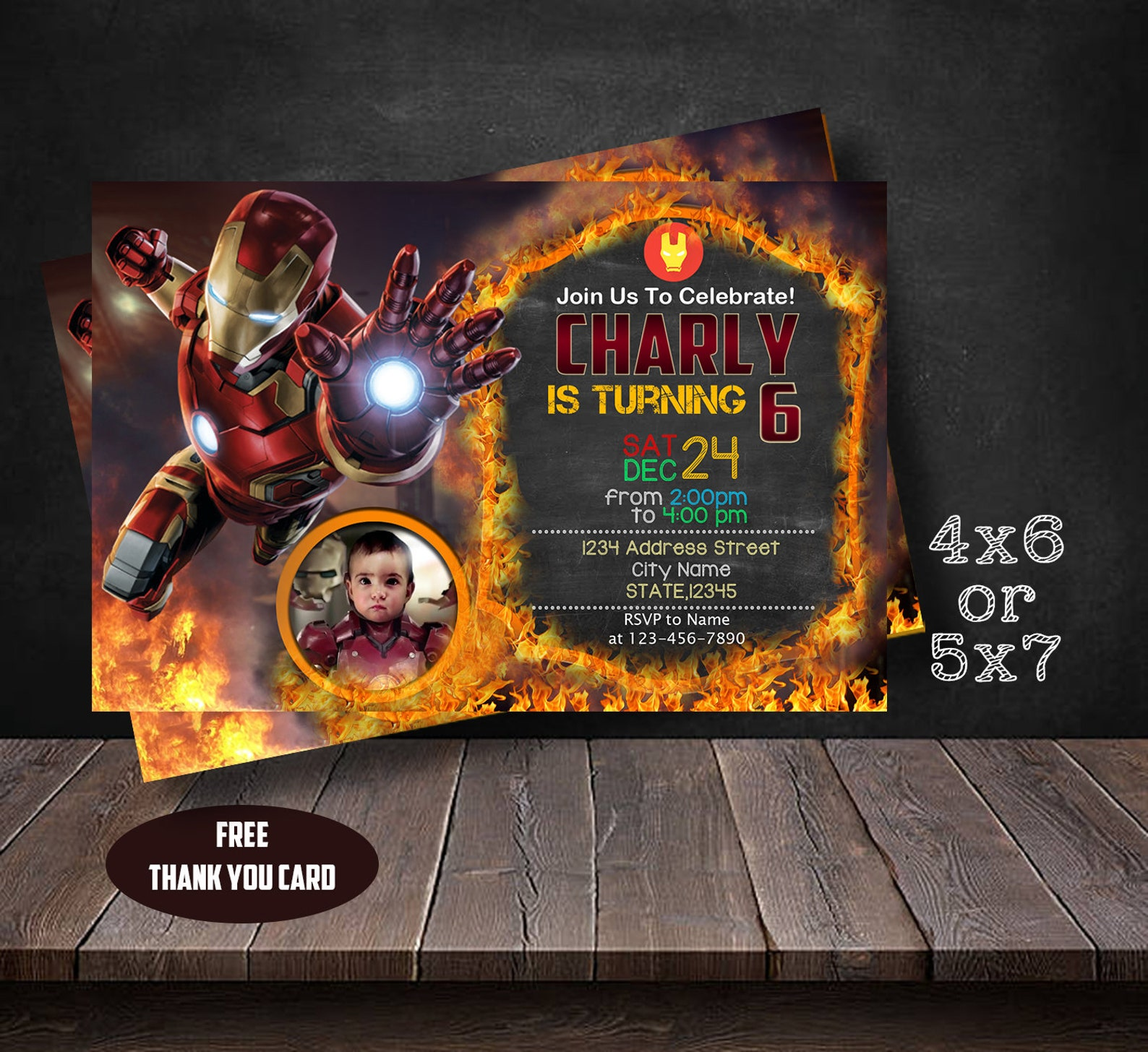 Printable Iron Man Party Invitations Page Two
